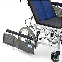リクライニング車椅子 介助用 BAL-14 無段階リクライニング 施設・病院のアームサポート