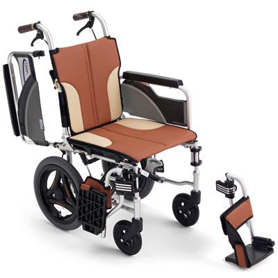 コンパクトタイプ車椅子 介助用 スキット SKT-200 ウィング・スイングアウト
