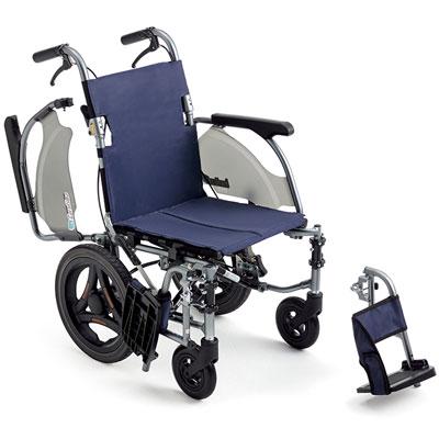 超軽量 車椅子 カルティマ ワンハンドブレーキ  ウィング・スイングアウト低床介助用 CRT-8Lo