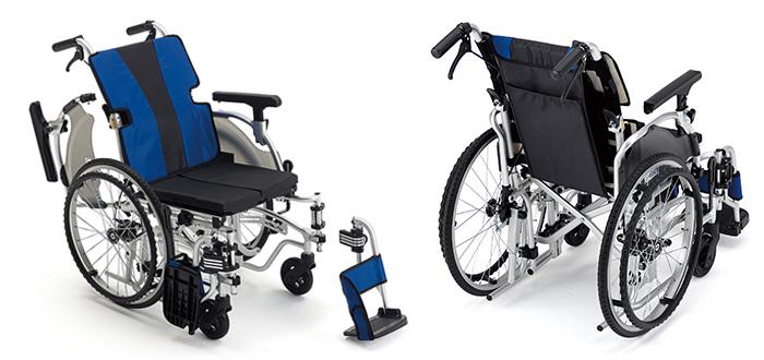軽量簡単モジュール自走用車椅子 MEF-20 低座面タイプ