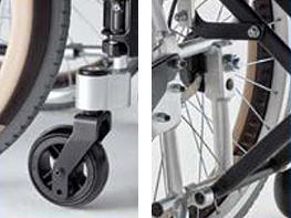 室内用スレンダー介助用車椅子 スキット600 SKT-600