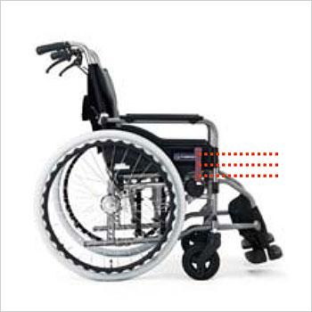 カワムラサイクル介助用車椅子 モダン標準Aタイプ背折れ KMD-A22-40(42)-M(H/SH)