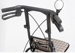 簡単取付ミラー 車椅子に取付できるサイドミラー(2個セット)