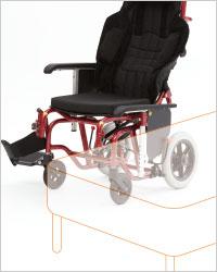 介助型車椅子 emigo�U(えみーご2) 標準使用 円背対応背もたれ