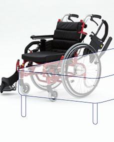 モジューラー自走用車椅子 LAPPO�V(らっぽ3) ティルト&リクライニング