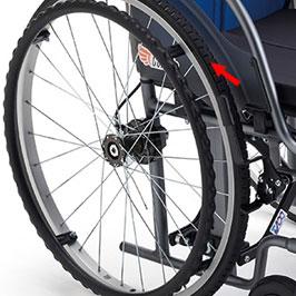 在宅向き超軽量コンパクト自走用車椅子 CRT-1-CZ モジュールタイプ