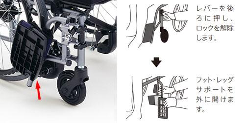 在宅向き超軽量コンパクト自走用車椅子 CRT-3Lo B 立ち上がり自動ブレーキ
