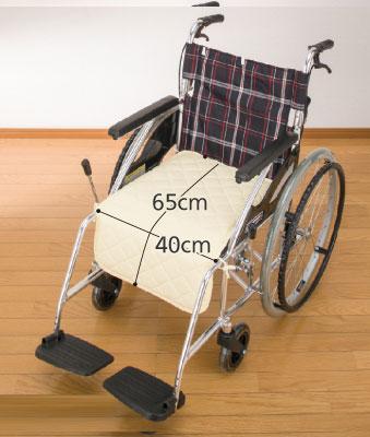 消臭達人 車椅子用クッション(ひも付)  のサイズ