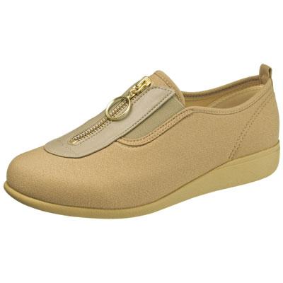 快歩主義 L117 介護靴 足囲3E オーク サイズ21.5~25cm センターファスナー婦人靴