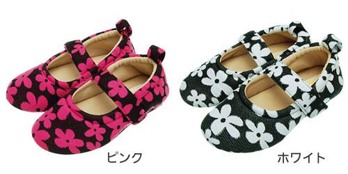 RAKU WALK 婦人花柄 室内用介護靴のカラー