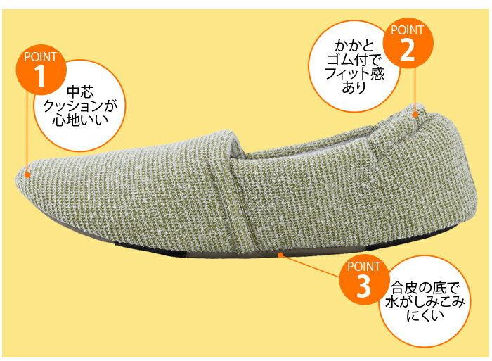 あゆみケアシューズ エスパドマカロン(男女兼用) 室内用 左右サイズ選べる両足販売 S〜3L
