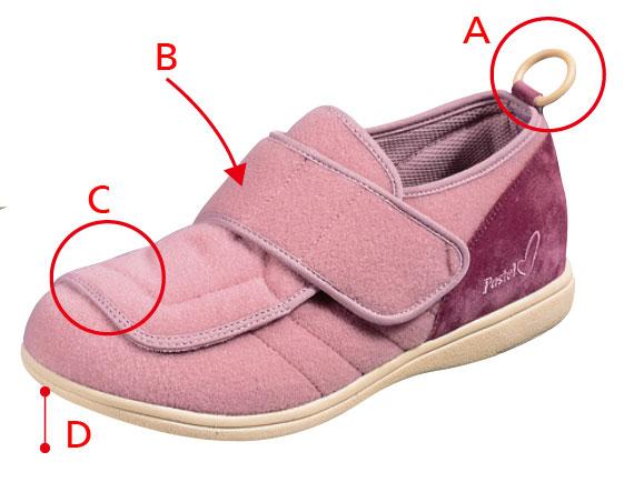 ムーンスター 軽量 介護靴 パステル403 21〜25cm ピンク 両足販売 むくみ・外反母趾対応