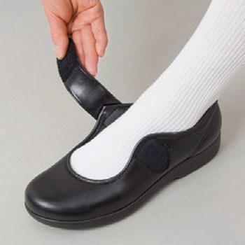 快歩主義L129 屋外用介護靴 フォーマルタイプ 婦人靴の説明