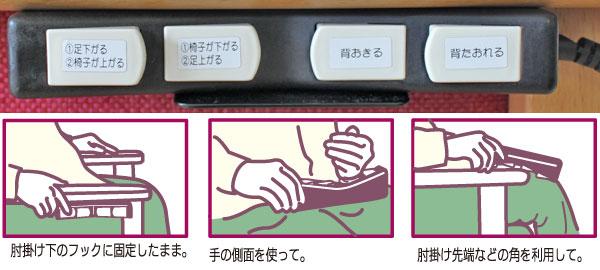 電動起立補助リクライニング機能付き椅子 マルチ5の使用例