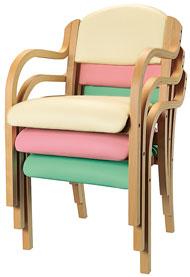 施設向け椅子 肘掛タイプ IKD-01 二脚セットの説明