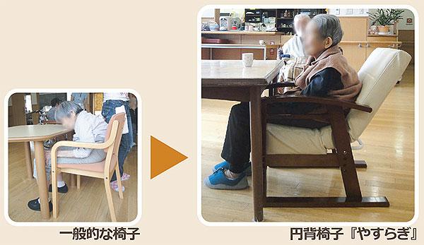 円背椅子 やすらぎ使用例