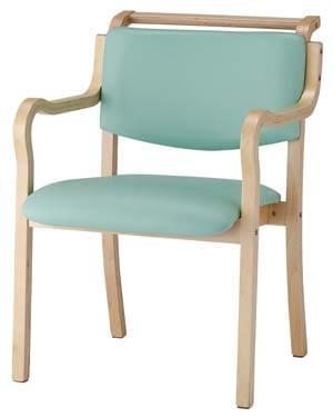 木製ダイニングチェア 肘掛つきタイプ IKD-03 2脚セット 介護・福祉施設・高齢者施設向け椅子