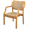 木製肘掛椅子 ビニールレザー張り UFW-C6N 2脚セット 介護・福祉施設・高齢者施設向け椅子