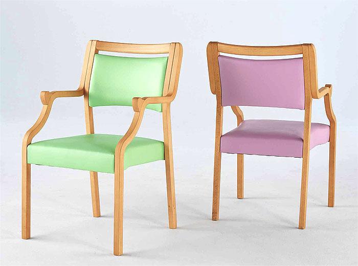 コイズミ 介護施設向け椅子 K1 ビーチチェア半肘 2脚セット