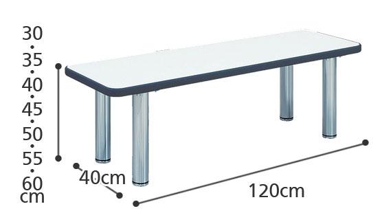 ロビーテーブル TB-10の寸法図