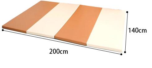 折りたたみプレイングマット 140×200のサイズ