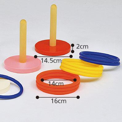 輪投げ 6色1組 B-2421 介護レクリエーション のサイズ