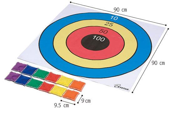ターゲットプレイシート カラフル B-3597A 介護レクリエーション のサイズ