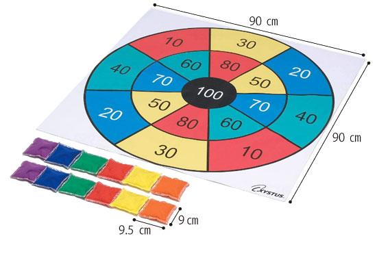 ターゲットプレイシート カラフル B-3597C 介護レクリエーション のサイズ