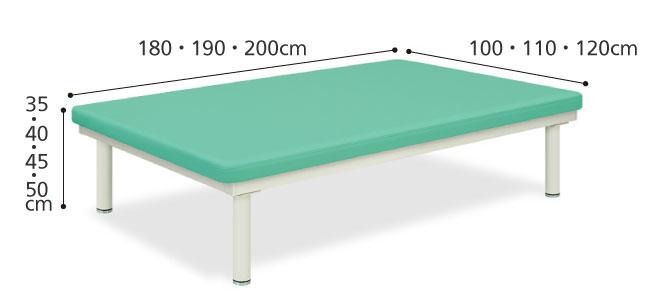 訓練台 トレーニングベッド かどまるホームTB-1073 のサイズ