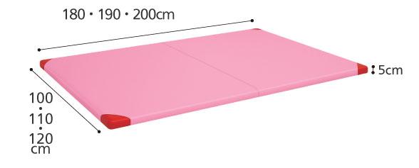 リハビリ トレーニング プラット訓練マット TB-1380のサイズ