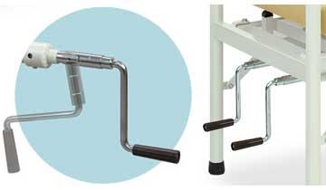 手動クランク式角度調節機能