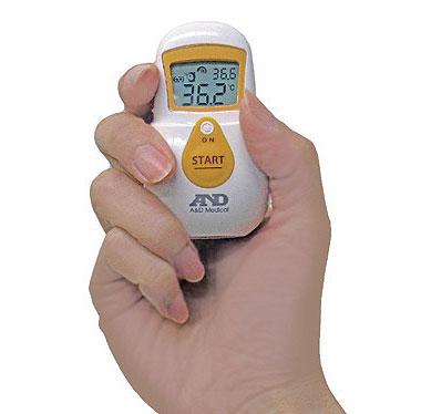 非接触体温計 でこピッと UT-701の説明