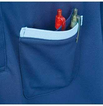 胸二重ポケット