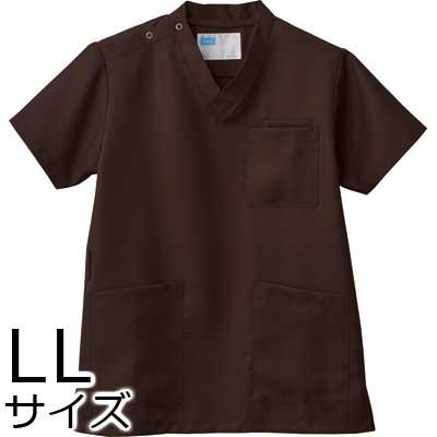 介護施設ユニフォーム 男女兼用スクラブ WH11485B トップス LLサイズ