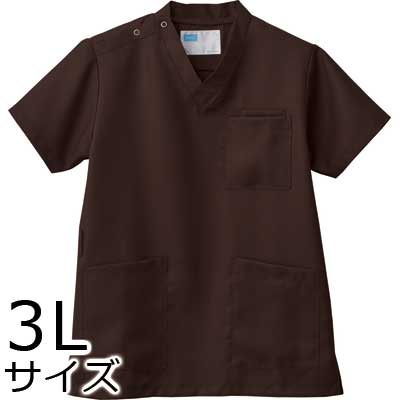 介護施設ユニフォーム 男女兼用スクラブ WH11485B トップス 3Lサイズ