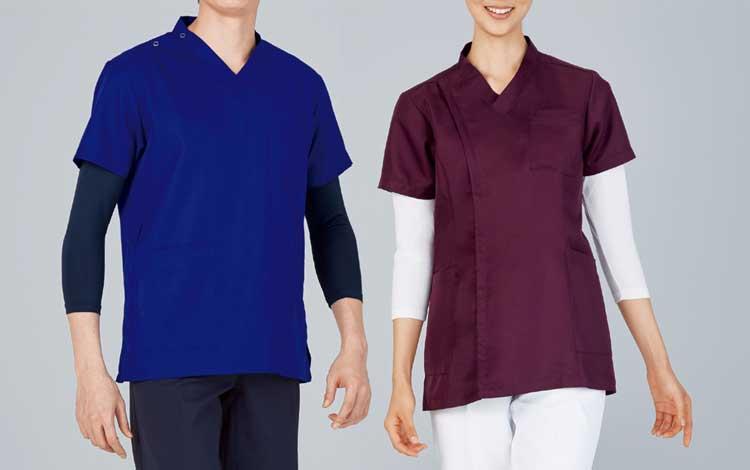 介護施設・病院向けユニフォーム 七分袖起毛インナーTシャツ