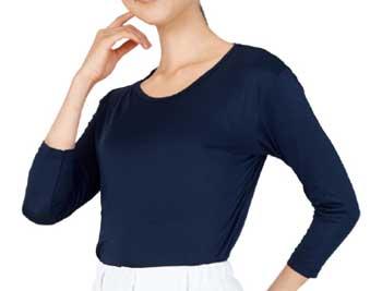 介護施設・病院向けユニフォーム 七分袖起毛インナーTシャツ WH90129