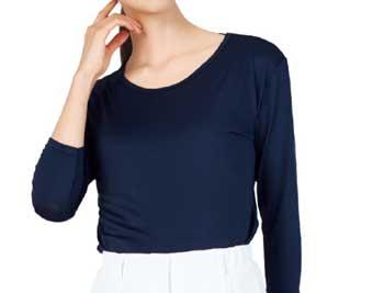 護施設・病院向けユニフォーム 七分インナーTシャツ WH90029
