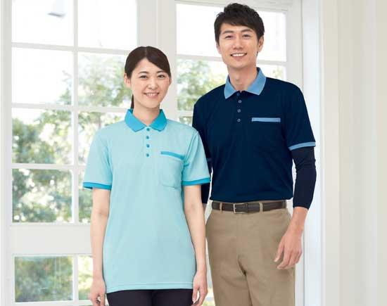 介護施設・病院向けユニフォーム 半袖ポロシャツWH90818 SS〜5Lサイズ