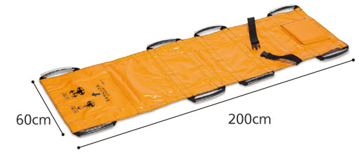 ターポリン救護担架のサイズ