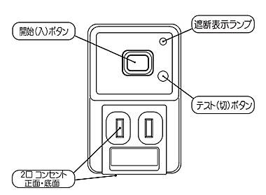 感電タップ とめ太郎 震度5で電気を遮断 の説明