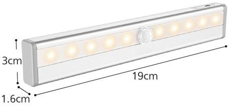 乾電池式センサーライト どこでもライト DKL01のサイズ